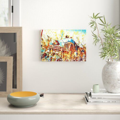 East Urban Home 'Vintage Classic Car Rusted (2)' Art Print on Canvas | Wayfair.co.uk