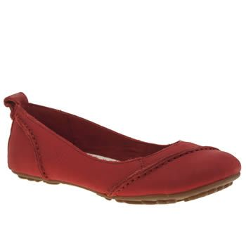 Womens Red Hush Puppies Janessa Flats Kid Shoes Red Shoes Flats