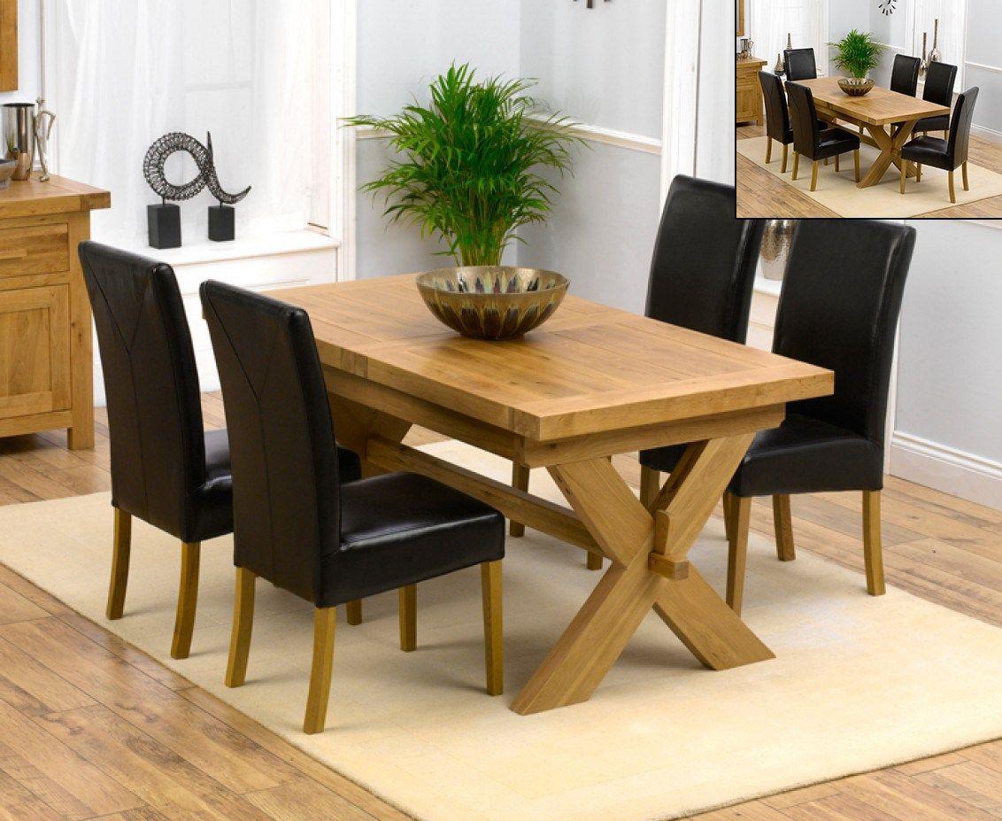 Bruges 200cm Solid Oak Extending Dining Table