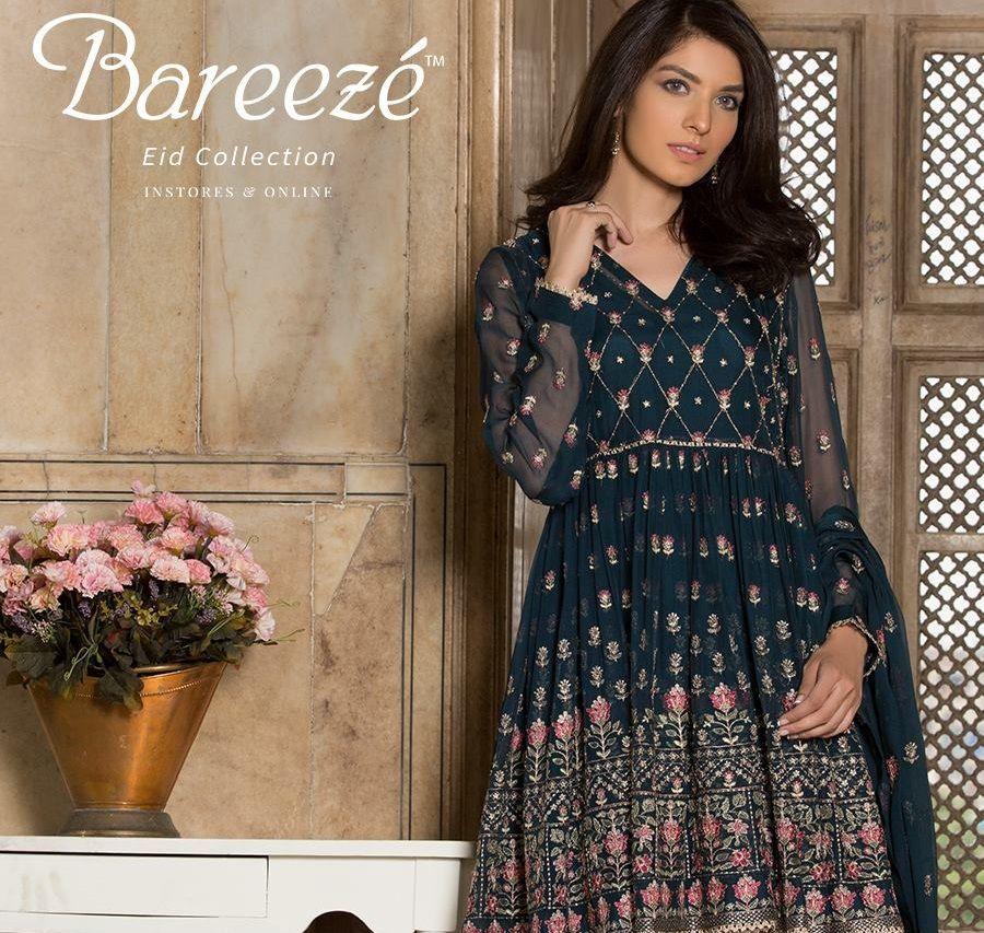560b76ea792 Bareeze Luxury Eid Dresses 2017-2018