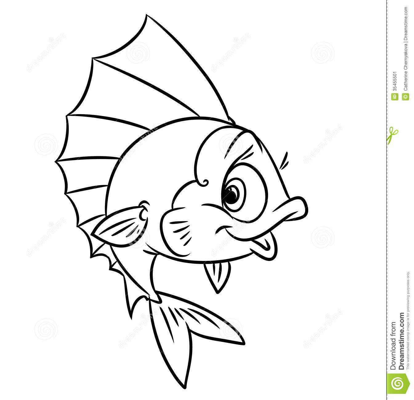 Printable coloring pages with fish - Stock Image Fish Coloring Pages Image 35455501