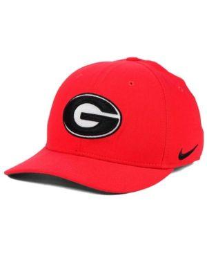 Nike Georgia Bulldogs Classic Swoosh Cap - Red L/XL