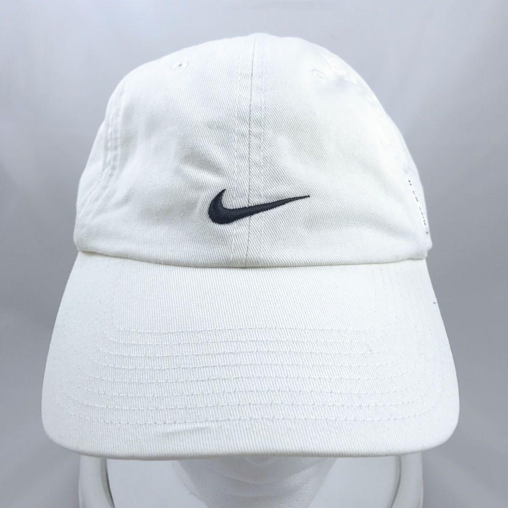 667cb2d99fc ... sale nike swoosh just do it white baseball cap hat adjustable strapback nike  baseballcap ad b7447