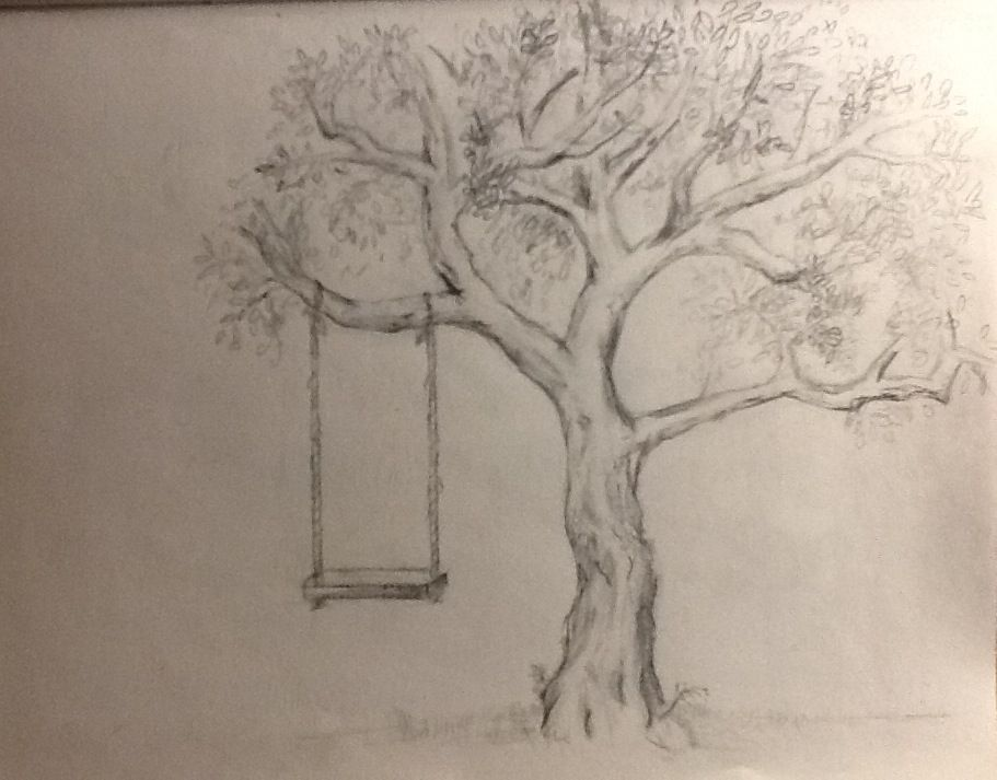 Tree pencil drawing