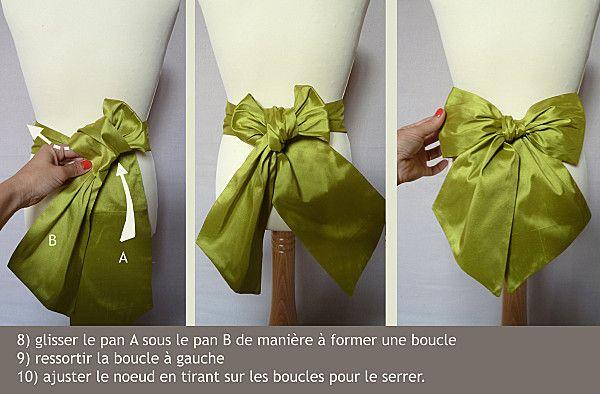 comment faire un joli noeud look faire soi meme couture et noeud. Black Bedroom Furniture Sets. Home Design Ideas