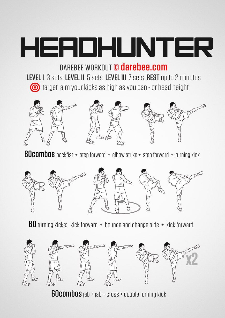 Headhunter workout martial arts workout kickboxing