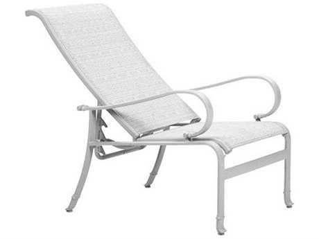 Tropitone Torino Sling Aluminum Recliner Lounge Chair Outdoor