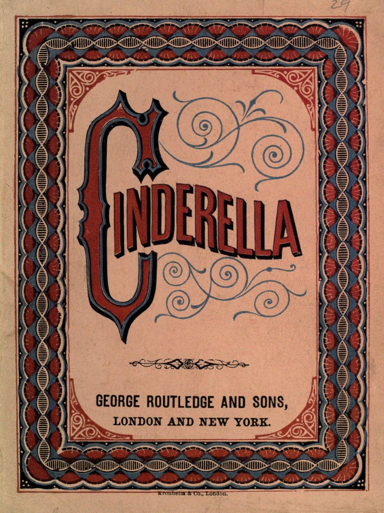Cinderella book vintage book covers book cover