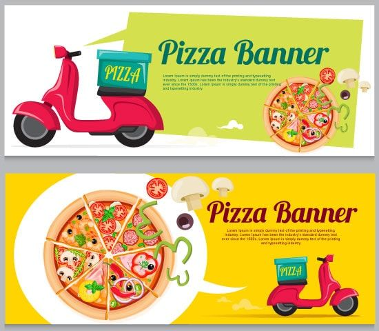 Banner de Pizza a Domicilio - vector
