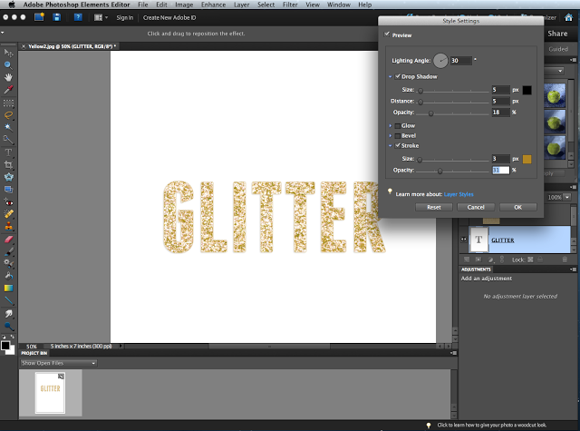 A Berry Sweet Life: How to Make Glitter Font Using Photoshop Elements