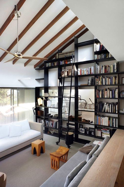 This Is Such A Cool Modern Library And Living Room Area I Love