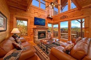 The Beautiful Living Room Of The Timeless View Cabin In