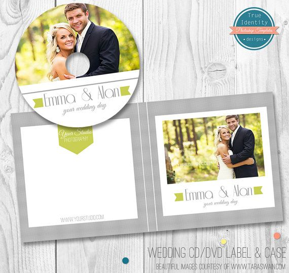 Wedding Cd Dvd Label And Cover Template For Photographers By Trueidenydesigns 8 00