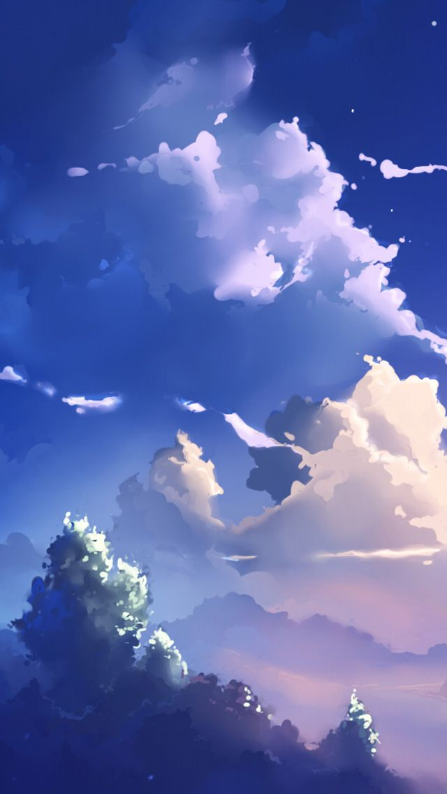 Cartoon Anime Clouds Google Search Anime Scenery Wallpaper