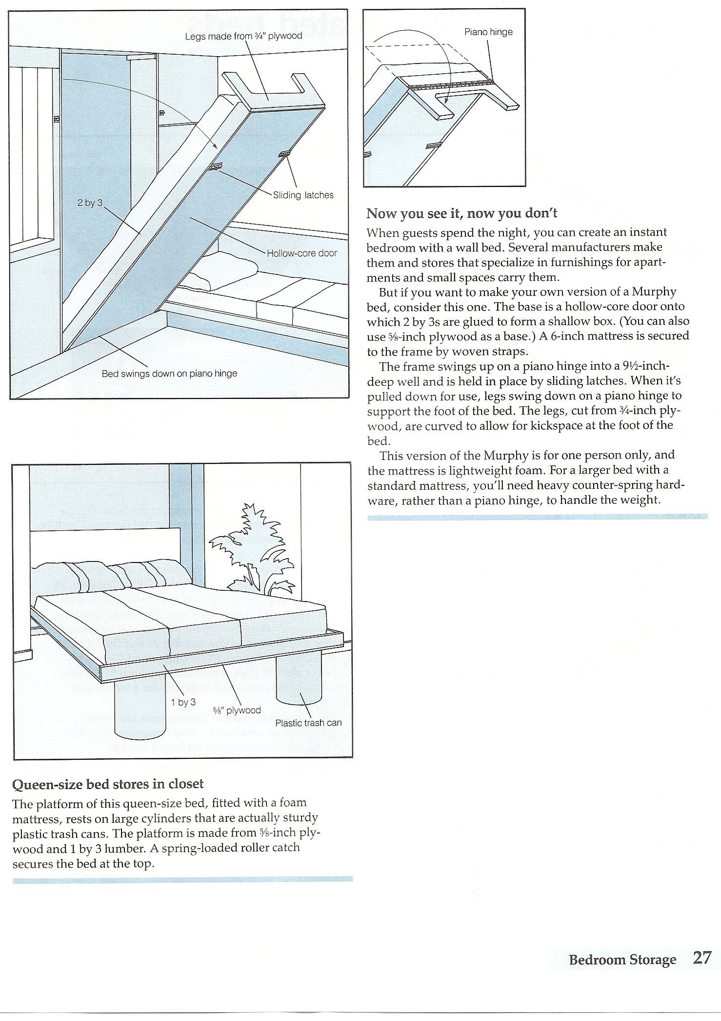 murphy bed in closet dad could totally do this now to figure out how to work a trundle or. Black Bedroom Furniture Sets. Home Design Ideas