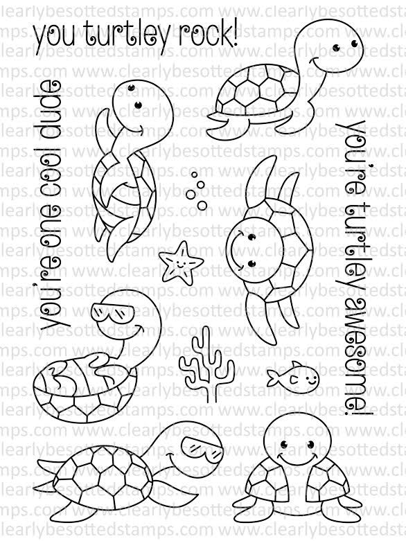 Clearly Besotted Cool Dude Clear Stamp Set Desenhos Infantis