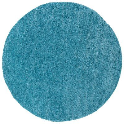 Ivy Bronx Bartz Turquoise Area Rug Rug Size Round 6 7 Quot In