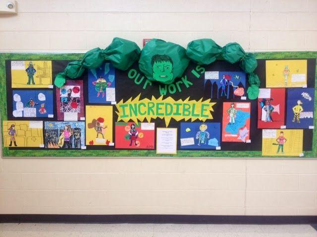 Incredible hulk bulletin board ideas
