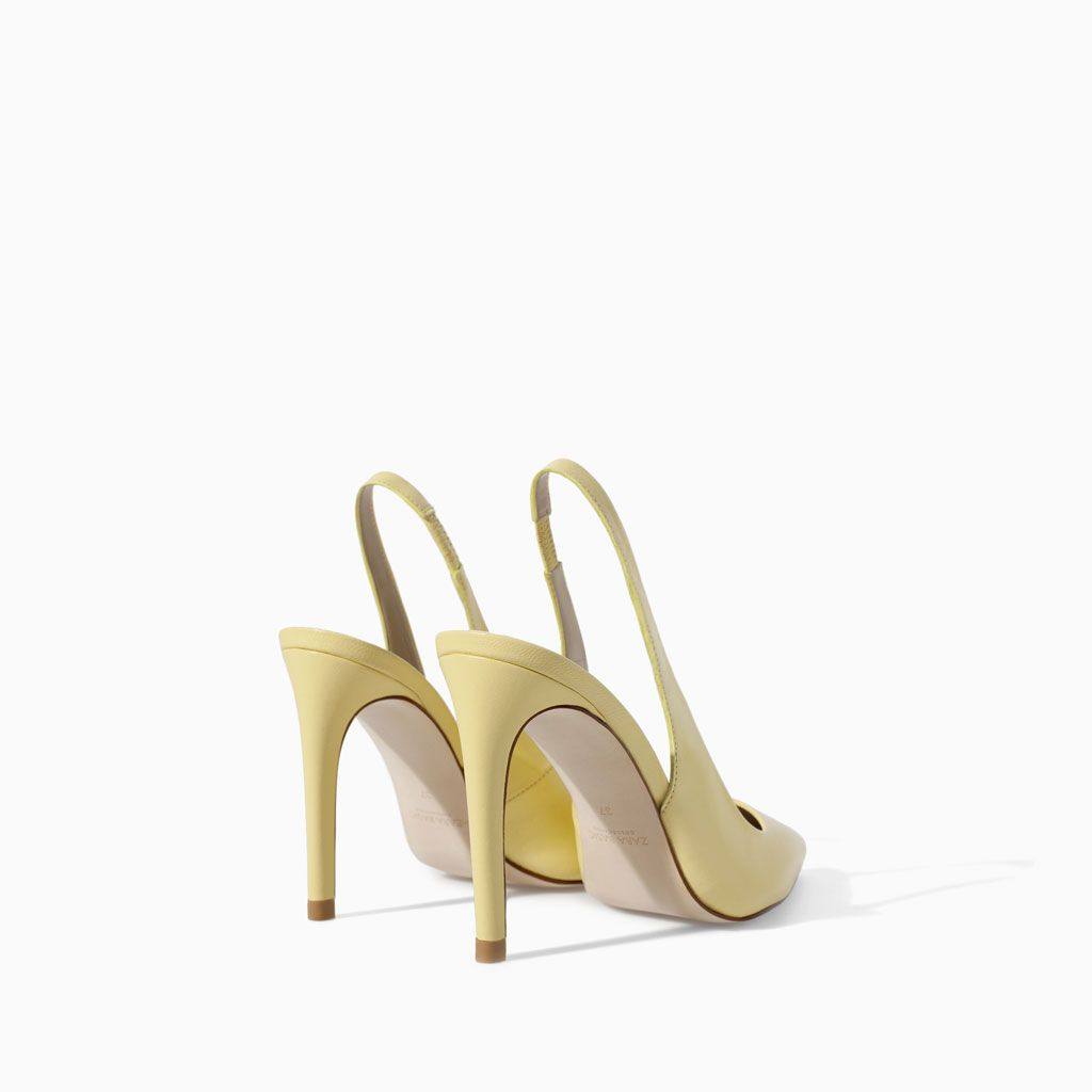 ZARA - NEW THIS WEEK - LEATHER SLING BACK