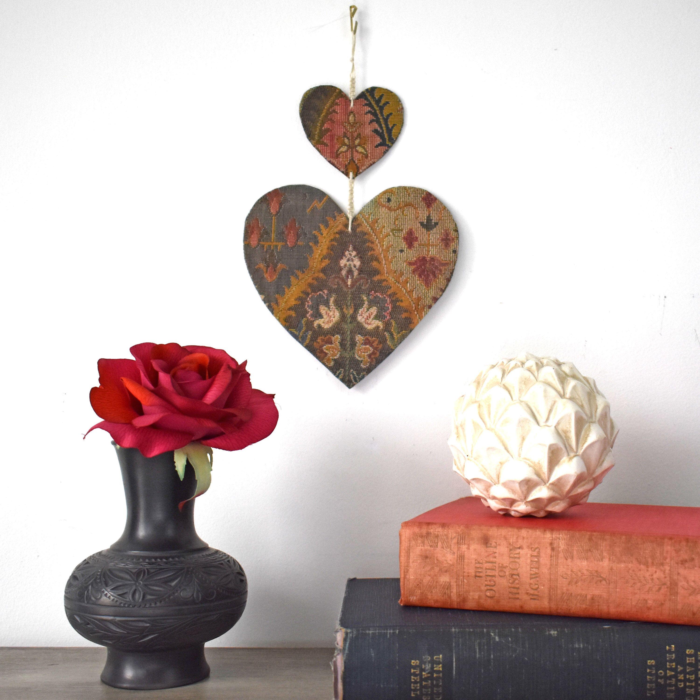 Boho hearts wall hanging quote board