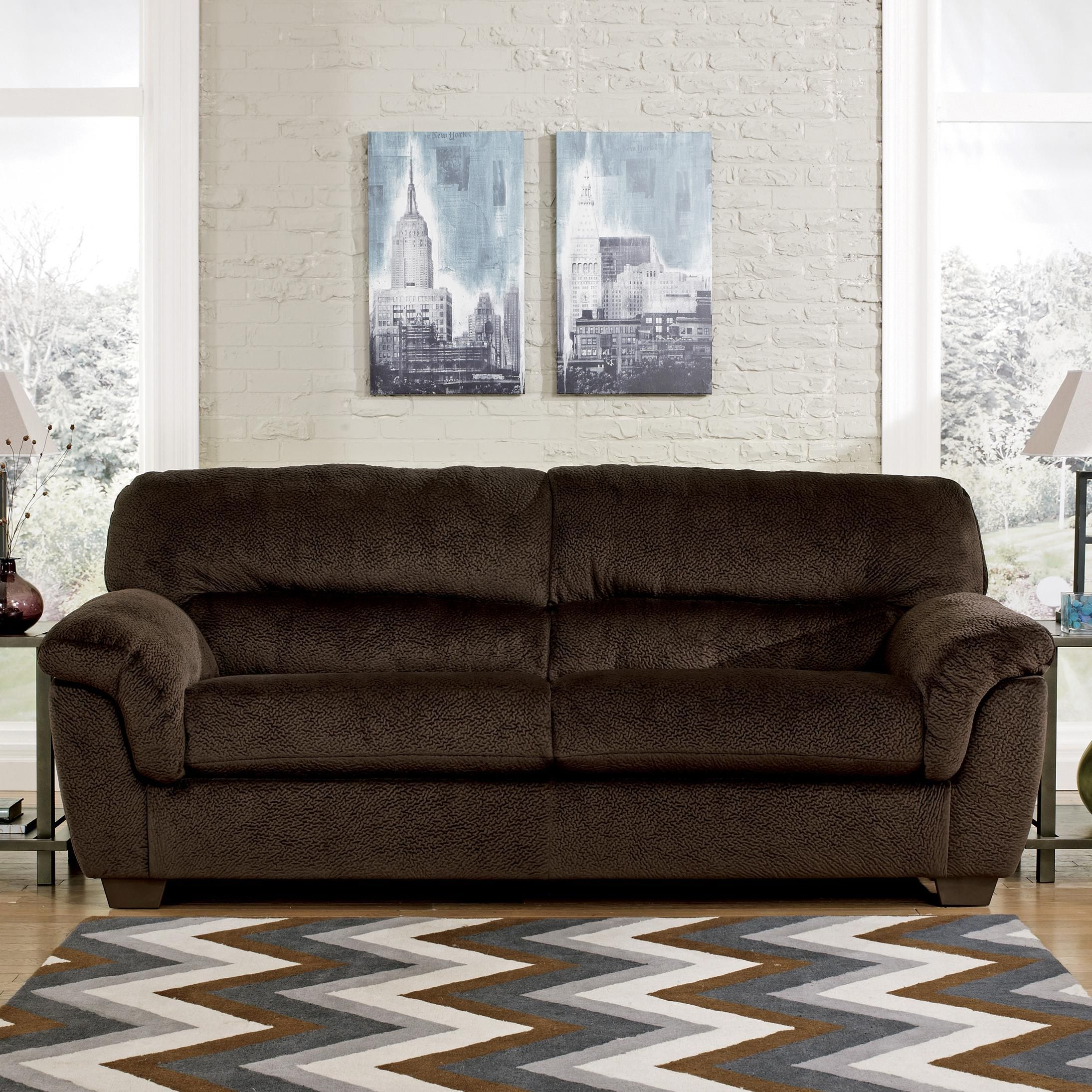 Charmant Coral Pike   Chocolate Sofa By Ashley $399 At SamsFurniture.com. Champion  Fabric Is SO Snuggly, Soft And Fun. The Perfect Addition For Every Home!
