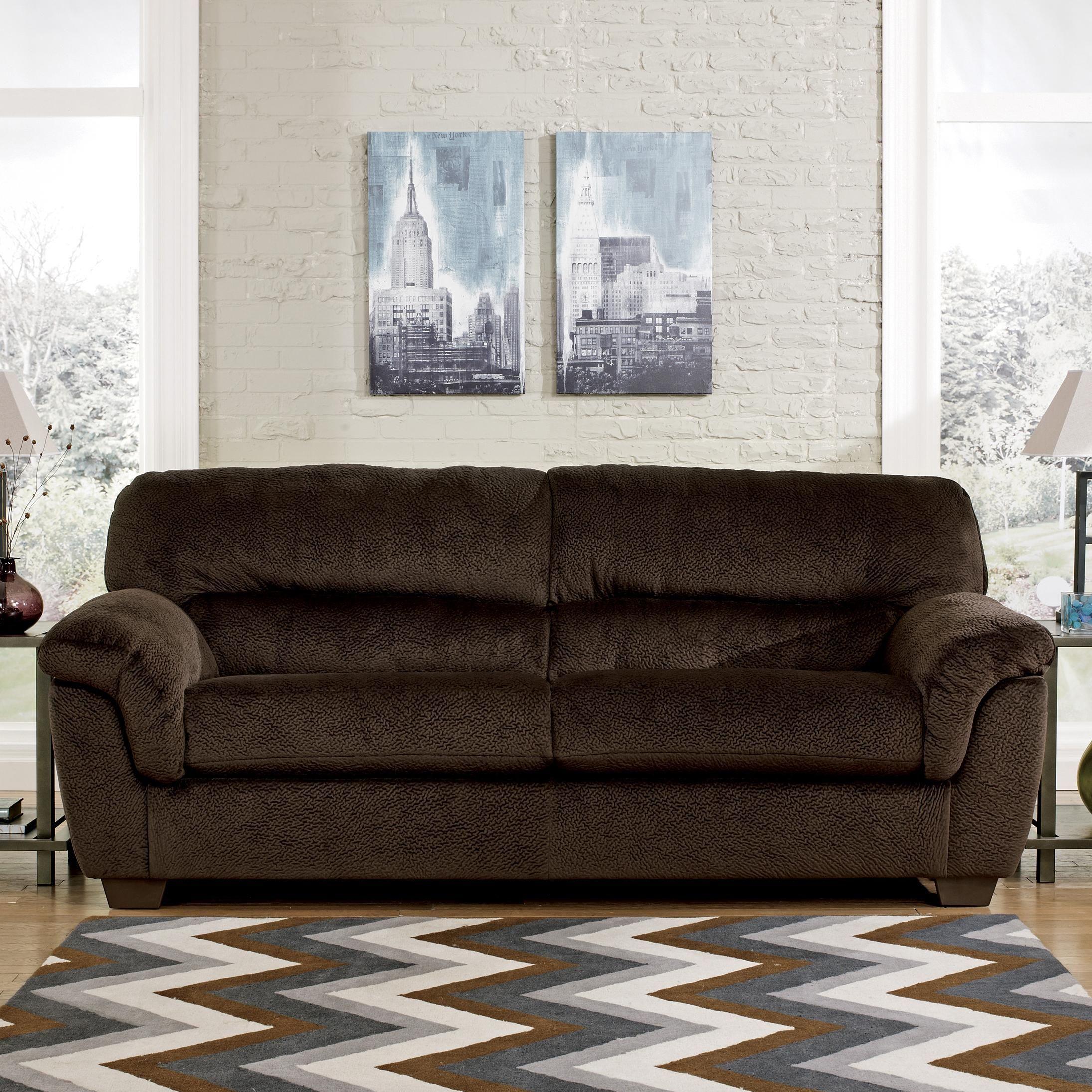 Good Coral Pike   Chocolate Sofa By Ashley $399 At SamsFurniture.com. Champion  Fabric Is