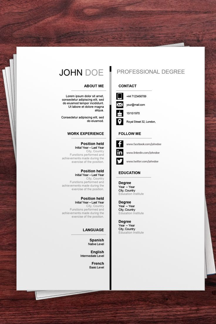 Download this Free Resume Example to stand out in your job