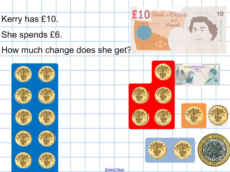 Subtraction money_giving change_Numicon activities, presentation ...