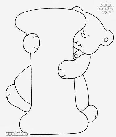Alfabeto Com Ursinhos Para Pintar Alfabeto Bordado Clipart Bebe