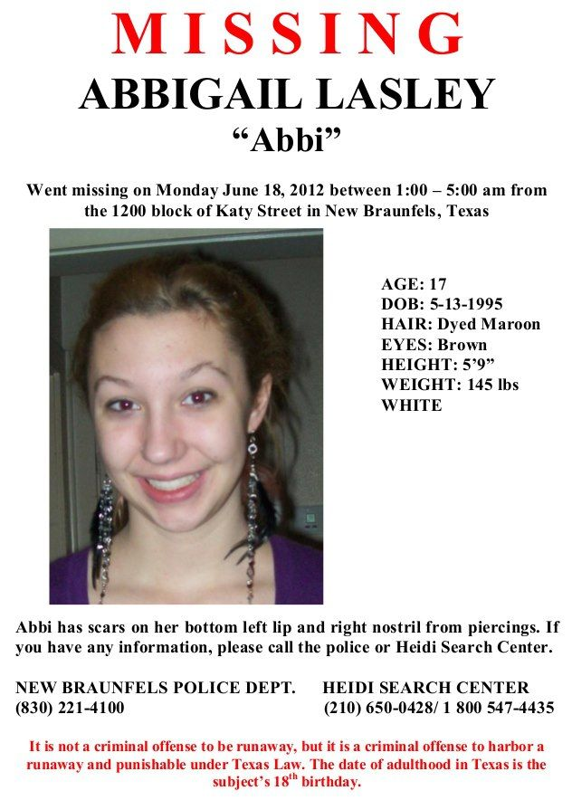 1\/12\/2013 Please share to locate Abbigail  - missing persons poster template