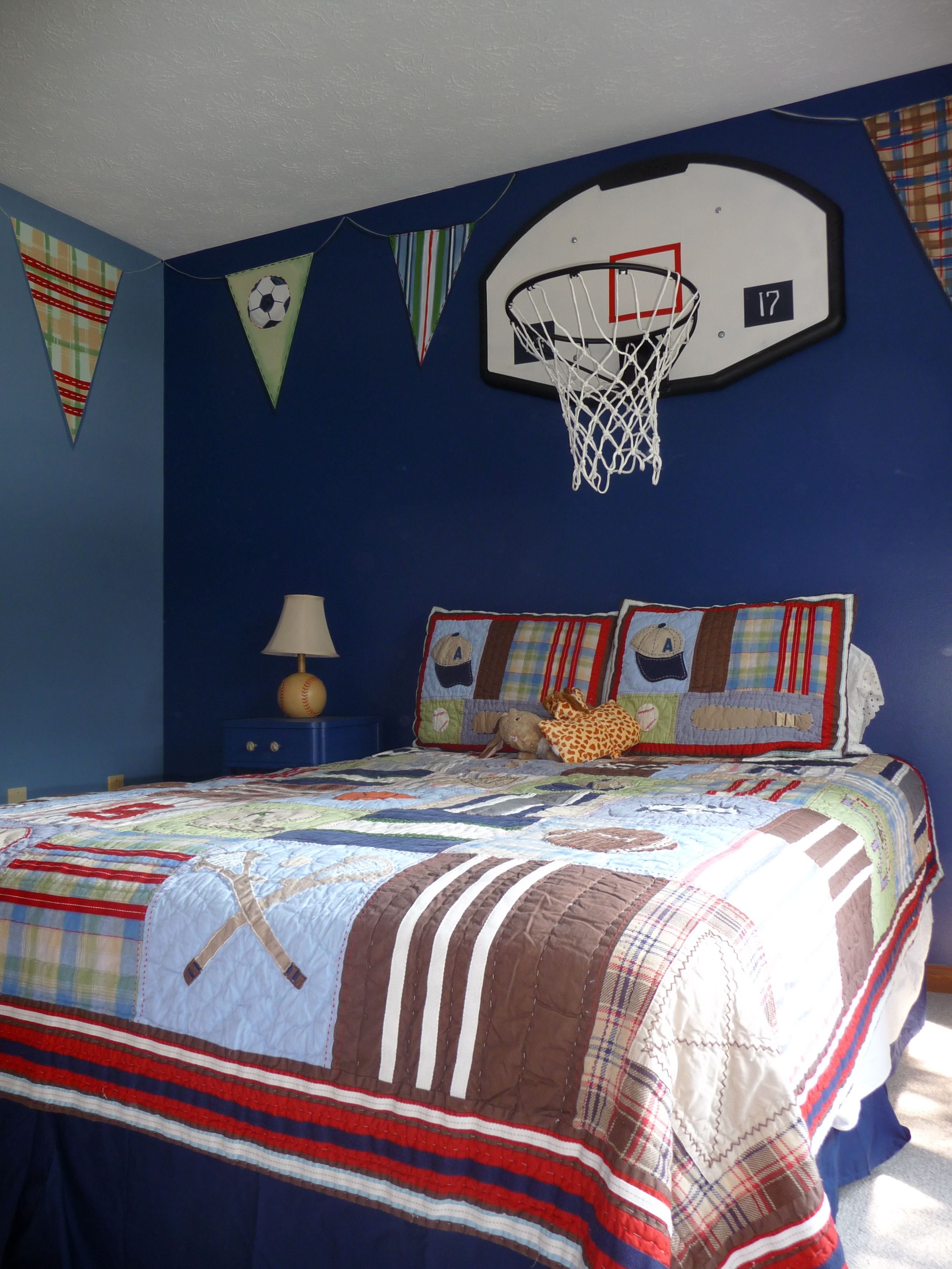 Room Basketball Goal Over The Bed