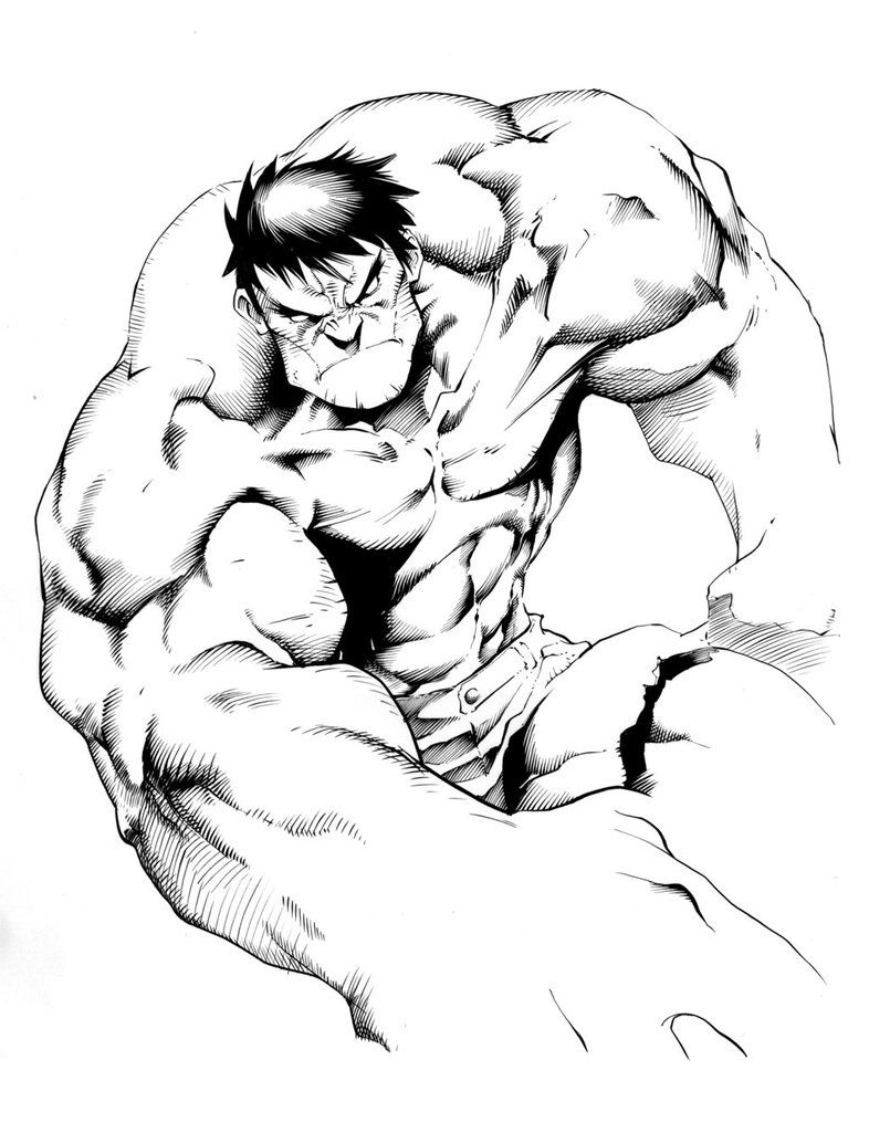 hulk line drawing  Google Search  marveldc  Pinterest  Hulk