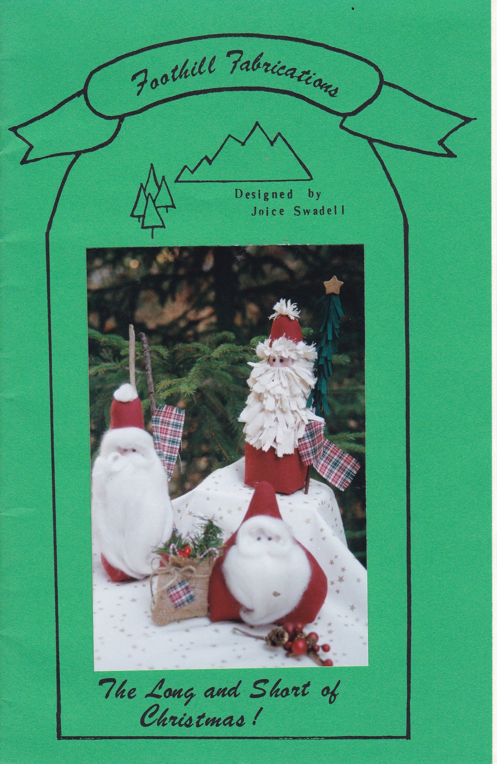 Free Us Ship Out Of Print Unused Craft Pattern Christmas Santa Etsy Christmas Dolls Santa Patterns Craft Patterns