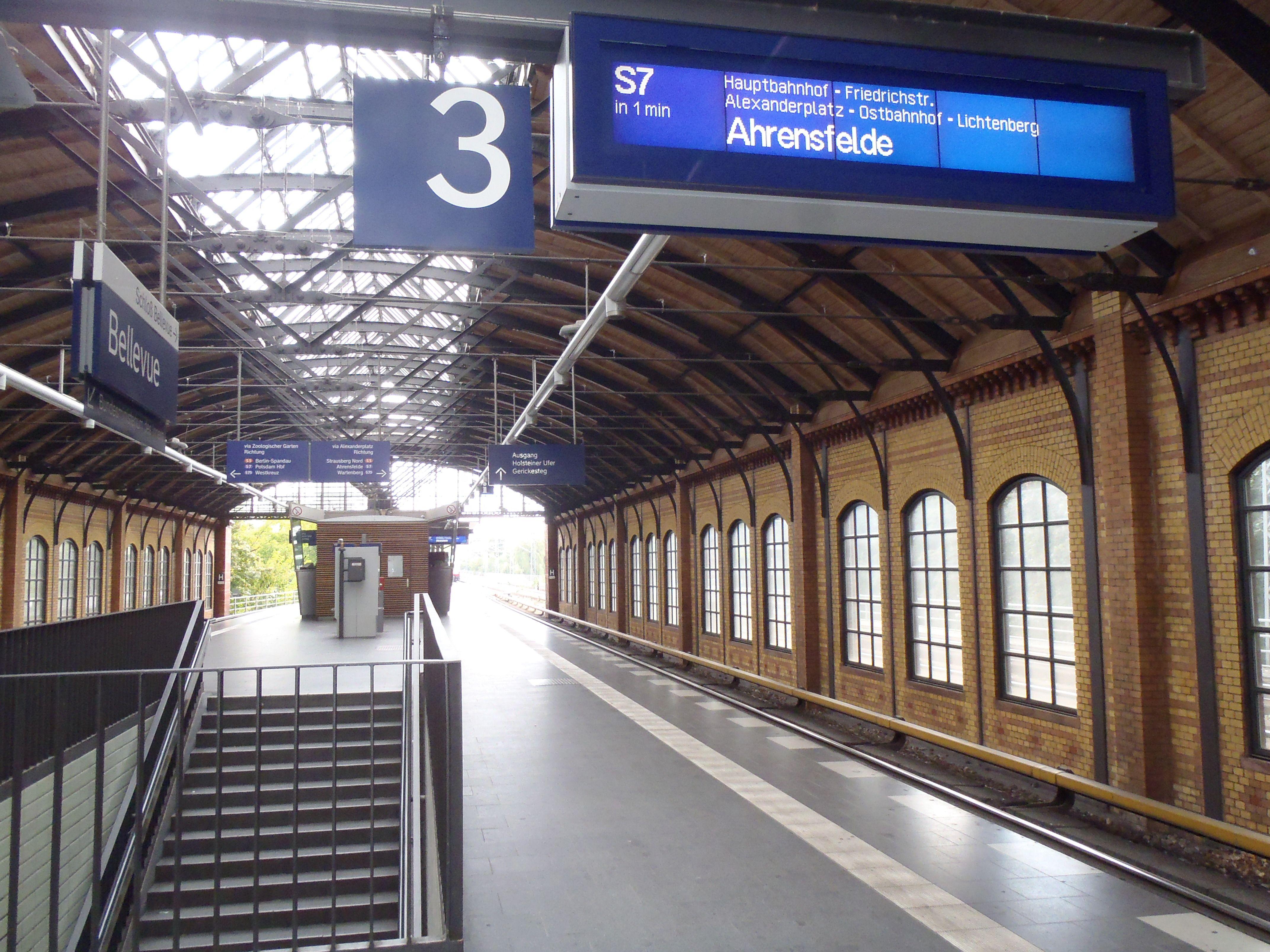 Bellevue Train Station In Berlin Germany Berlin Train Station Train