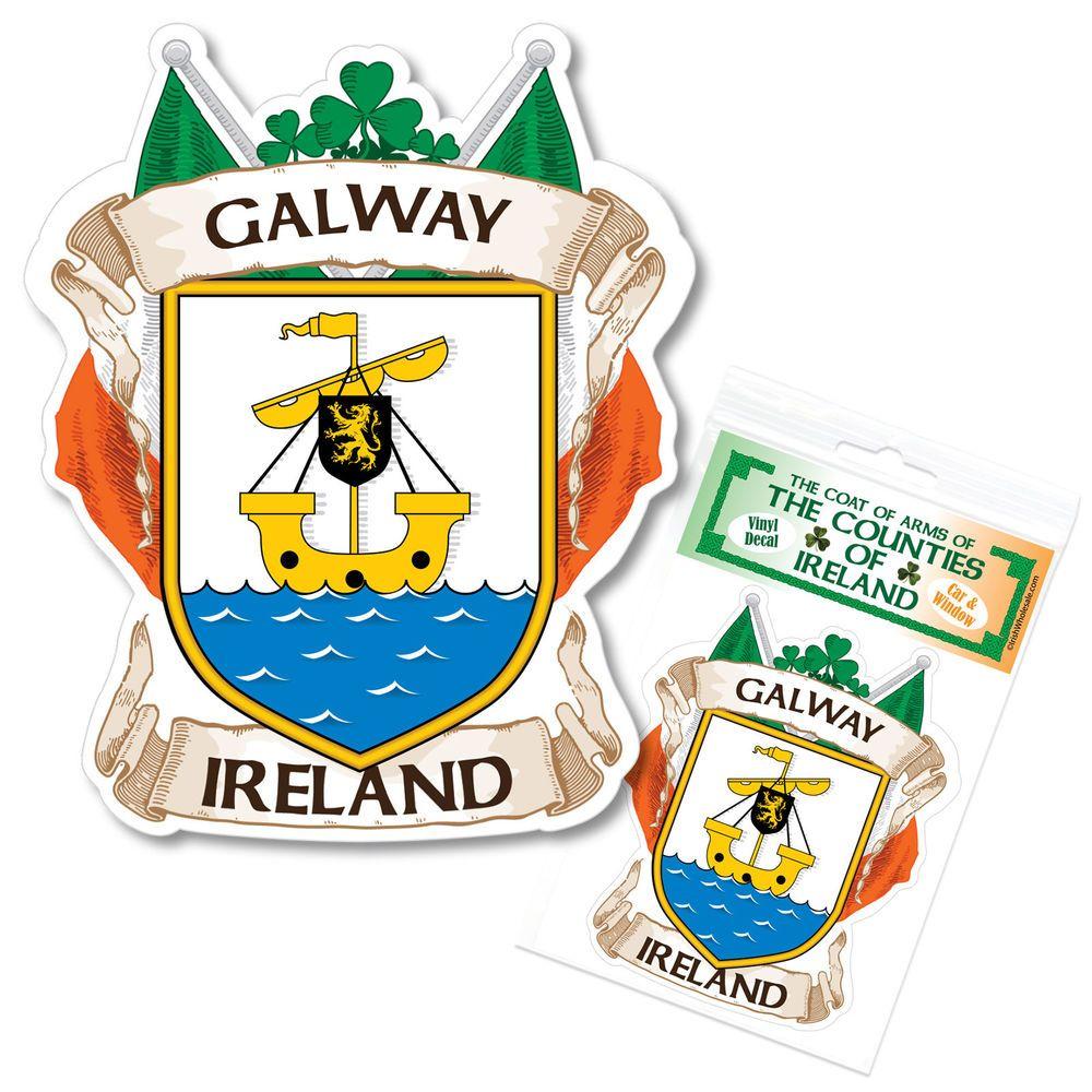 Galway Ireland County Decal Sticker Irish Gaa Auto Galway Ireland Ireland Galway [ 1000 x 1000 Pixel ]