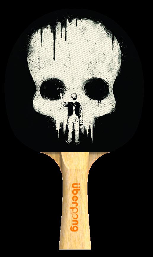 Paint It Black Design Uberpong Ping Pong Paddle Ping Pong Paddles Custom Ping Pong Paddle Personalized Ping Pong Paddle