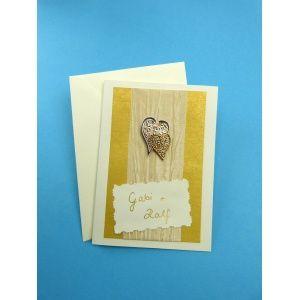 F r die goldene hochzeit einladungskarte hochzeit selber - Goldene hochzeit geschenk selber basteln ...
