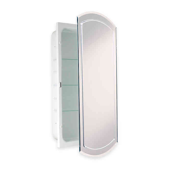 Recessed V Groove Beveled Recessed Mirrored Medicine Cabinet In