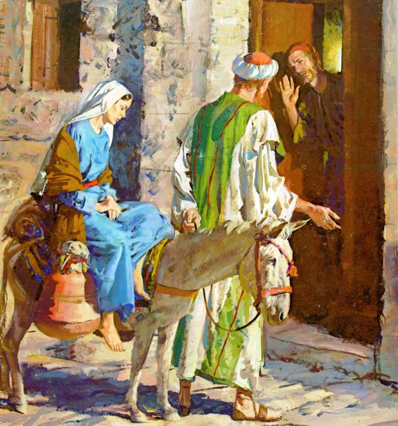 Jesus  Lc 2 4 buscando Mara y Jos hospedaje y no haba lugar