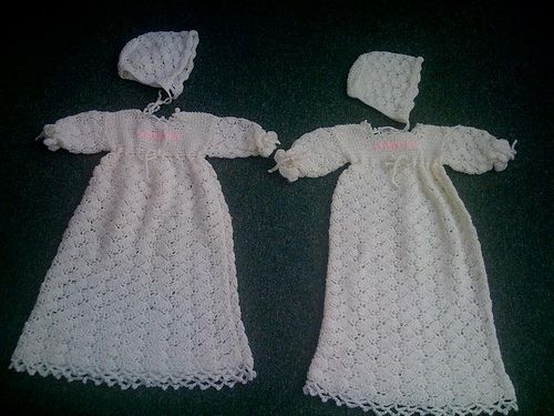 Needle Arts Christening Gown Crochet Pattern Crochet Pinterest