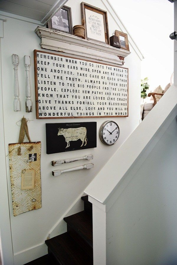 DIY stairway gallery wall A great