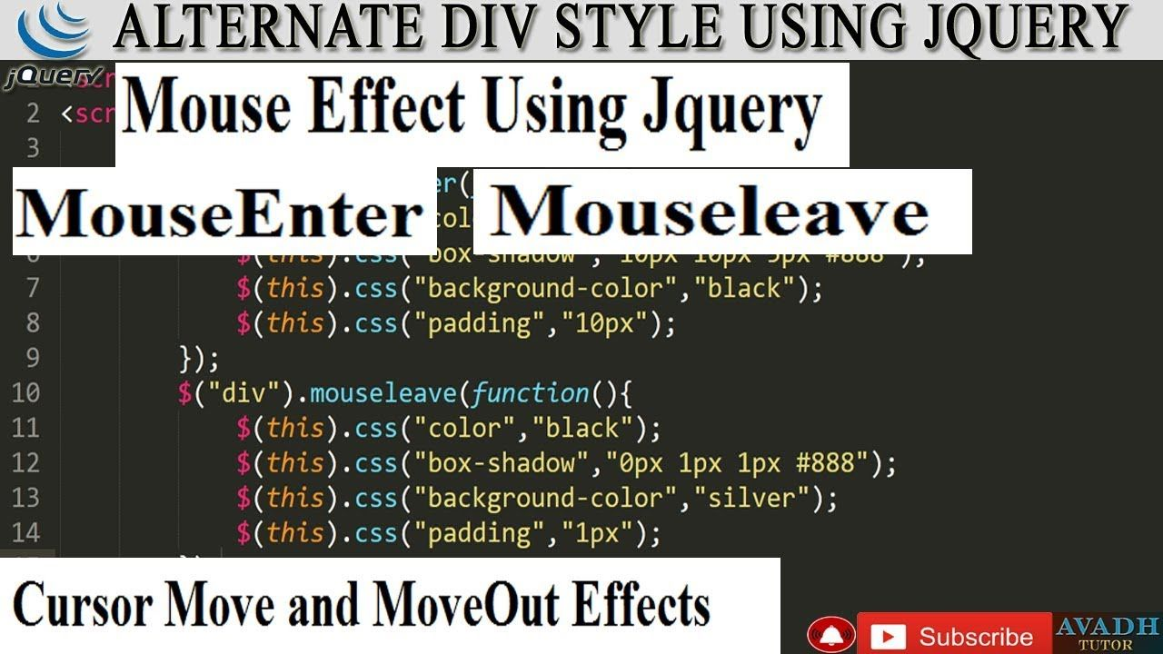 mouseenter event in jquery mouse move then background