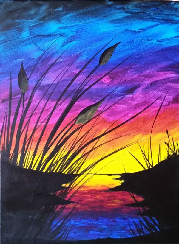 54 Easy Acrylic Painting Ideas For Beginners To Try Easy Canvas Painting Acrylic Painting Canvas Beginner Painting