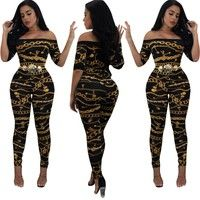 8a49c361ec5 Buy Women Fashion One-shoulder Printed Tight Jumpsuit Romper Party Long  Playsuit at Wish - Shopping Made Fun