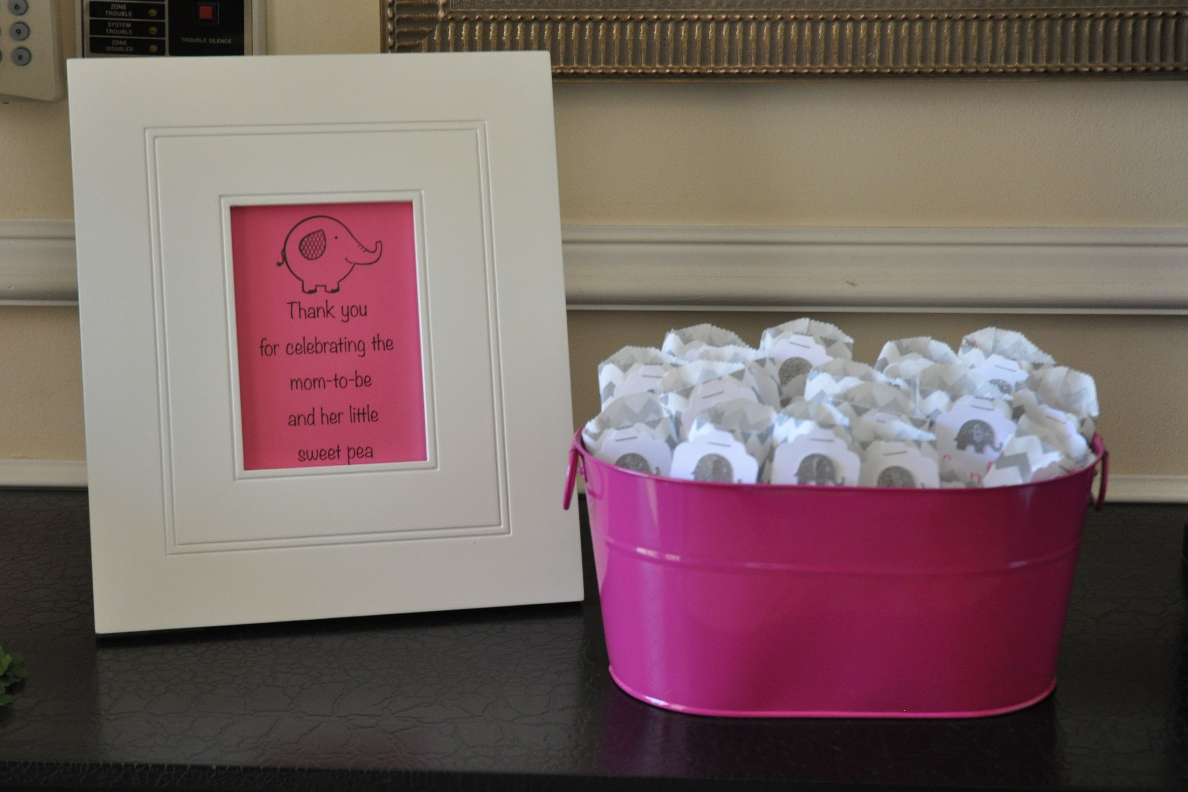 Sweet Pea Hand Sanitizer Baby Shower Favors With The Saying A