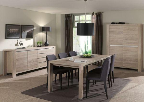 Muebles mesa de comedor de madera clara mi hogar for Catalogo de muebles de madera para el hogar pdf