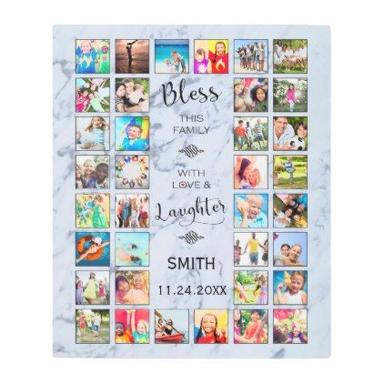 Posters Metal Art Bless This Family With Love 32 Photo Collage Metal Print Framed Photo Collage Photo Collage Collage Poster