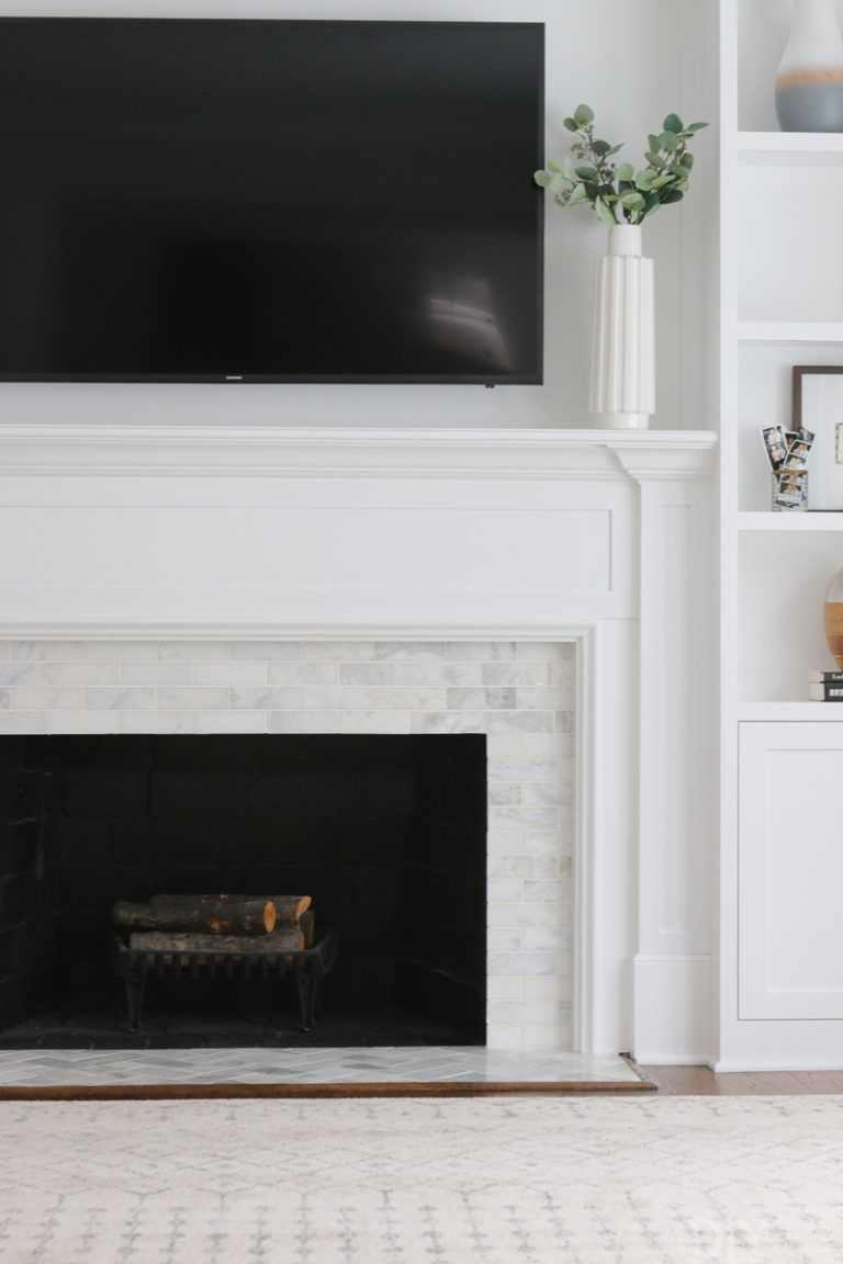 white marble tile fireplace home tile around fireplace marble rh pinterest com