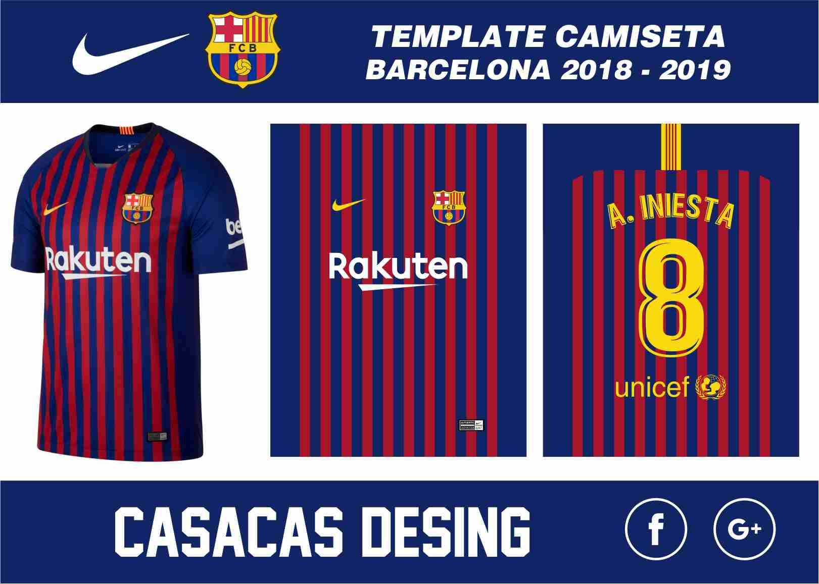 82fbfa4c31692 Camiseta Barcelona 2018 - 2019 vector