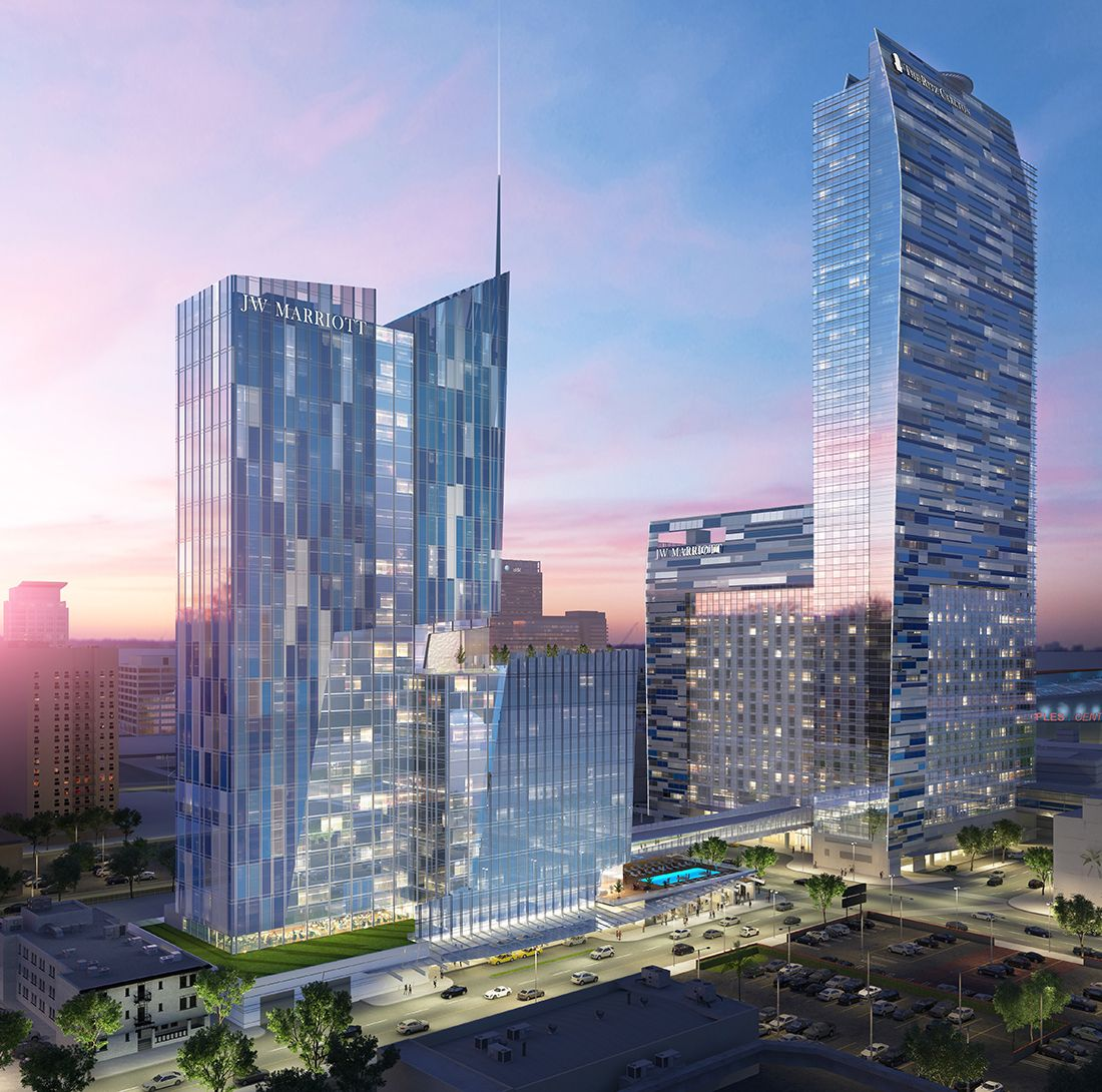LA Live's Marriott/Ritz-Carlton is Getting a 38-Story Expansion ...